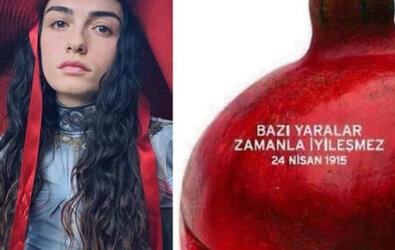 """Hazar Ergüçlü 1915 """"Ermeni Soykırımı"""" Paylaşımı"""